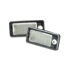 Set pasklare LED nummerplaat verlichting - passend voor Audi diversen