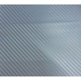 3D Carbonfolie 152x200cm Zilver, zelfklevend