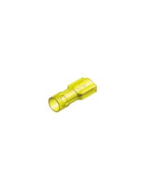 Half-geïsoleerde kabelschoen male 6,3 mm geel
