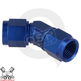 Adapter 45° female / female draaibaar D03 - Blauw