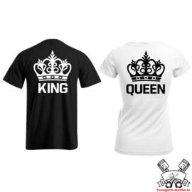 T-shirt King & Queen + Kroon (Black & White)nnn