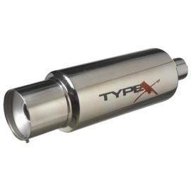 Sportuitlaat Universeel Type X Racing 'DualSound' - Ø150mm - Straight Tip