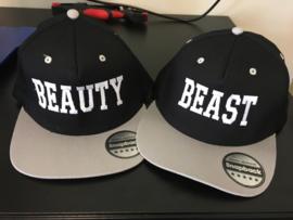 Beauty & Beast Cap zwart/grijs