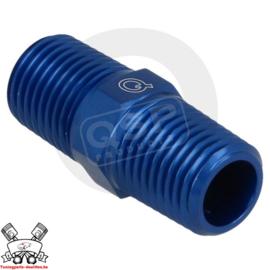 Adapter male / male 1/8NPT - 1/8NPT - Blauw
