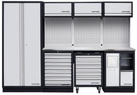 Modulaire meubelwerkplaats 4 elementen (Inox Werkblad)