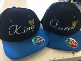 King & Queen Cap blauw/zwart (Kroon)