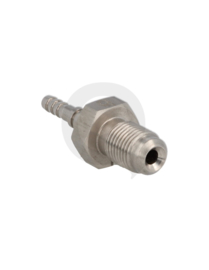 Krimp slang adapter RVS male M10 x 1,0 mm