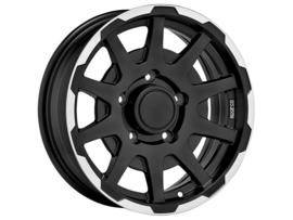 Sparco Dakar Wheels Flat Black Machined With Polished Lip