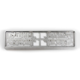 Kunststof kentekenplaathouder 'Click' 52x11cm Zilver