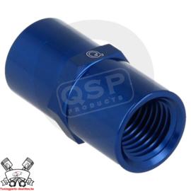 Adapter female / female 1/8NPT - 1/8NPT - Blauw