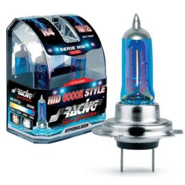 Simoni Racing Halogeen Lampen 'HID Style' H7 (6000K) Hyperwhite 12V/55W, set à 2 stuks ECE-R37
