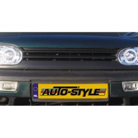 Embleemloze Grill passend voor Volkswagen Golf III 1991-1997 (2-lamellen)