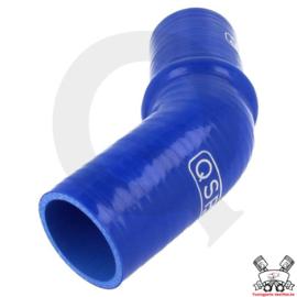 Silicone Humphose 45° (keuze uit diverse binnendiameters) Blauw