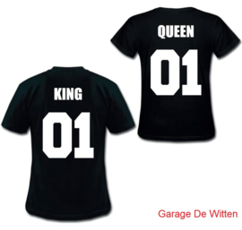 King & Queen Shirt Met Nummer