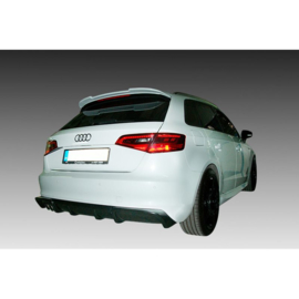 Achterbumperskirt (Diffuser) passend voor Audi A3 8V Sportback 2012- (Uitlaatuitsparing links) (ABS)