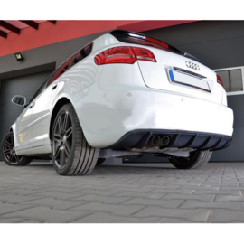 Achterbumperskirt (Diffuser) passend voor Audi A3 8P Sportback 2008-2012 (GFK)