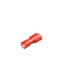 Half-geïsoleerde kabelschoen female 6,3 mm rood