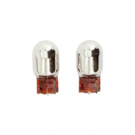 T-20 (WY21W) Lampen 21W/12V Amber ChroomCoated, set à 2 stuks