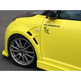 Chargespeed Voorspatborden passend voor Suzuki Swift II Sport 2005- incl. Luchtinlaat (+15mm) (FRP)