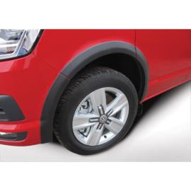 RGM Set spatbordverbreders passend voor Volkswagen Transporter T6 2015- Korte wielbasis - dubbele schuifdeur - Zwart