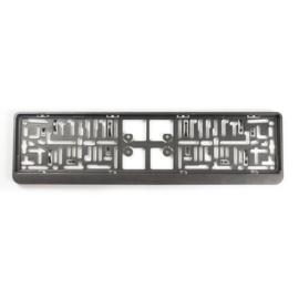 Kunststof kentekenplaathouder 'Click' 52x11cm Gunmetal