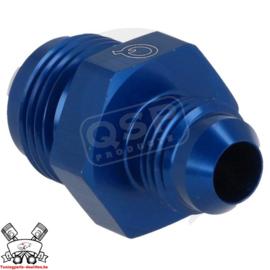 Aluminium verloop adapter male / male D06-04 Blauw