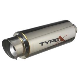 Sportuitlaat Universeel Type X Racing 'DualSound' - Ø140mm - Angle Tip