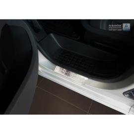 RVS Instaplijsten passend voor Citroën Spacetourer & Jumpy / Peugeot Expert & Traveller / Toyota Proace 2016- / Opel Vivaro 2019- - 'Rectangles' - 2-delig voorportieren