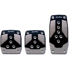 Simoni Racing Pedaalset Carbon Shade - Aluminium/Zwart/Carbon (Manueel)