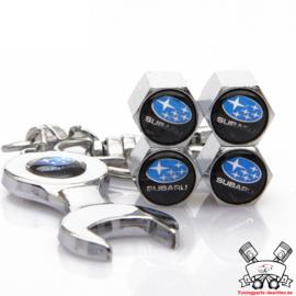 Subaru Ventielset + Sleutelhanger