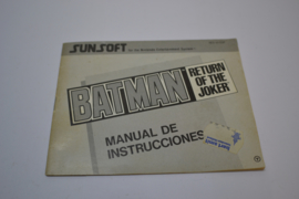 Batman - Return of The Joker (NES ESP MANUAL)