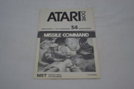 Missile Command Black and White (ATARI MANUAL)