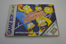 The Simpsons - Night of the Living - Treehouse of Horror (GBA EUR MANUAL)