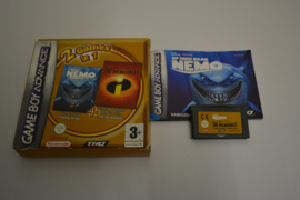 2 games in 1 Finding Nemo + The Incredibles (GBA FAH)