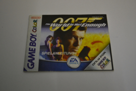 James Bond 007 - The World Is Not Enough (GBC NOE MANUAL)
