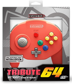 Retro-Bit N64 Tribute Classic Controller - Red NEW