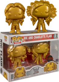 POP! Ric and Charlotte Flair - WWE - 2 Pack - Special Edition NEW