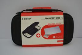 Big Ben Transport Case - S (Zwart) + Tempered Glass Screen Protector- Switch Lite