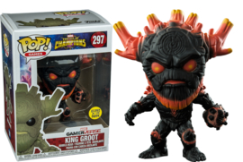 POP! King Groot - Contest of Champions Exclusive - Glow in The Dark NEW