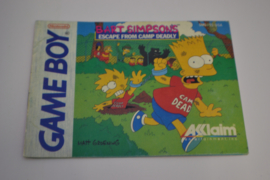 Bart Simpson's Escape From Camp Deadly (GB ASI MANUAL)