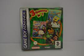 3 in 1- Spongebob, Rugrats en Tak - SEALED (GBA)