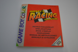 Mickey's Racing Adventure (GBA NEU6 MANUAL)