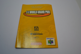 F-1 World Grand Prix (N64 NFAH MANUAL)