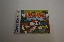 Titus The Fox (GBC EUR MANUAL)