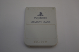 PlayStation 1  Official Memory Card (WHITE USED)