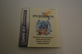 Final Fantasy Tactics Advance (GBA NFHUG MANUAL)