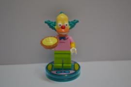 Lego Dimensions - Krusty The Clown Minifig w/ Base