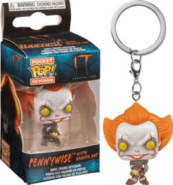 POP! Pennywise - With Beaver Hat  - IT - Pocket Keychains - NEW