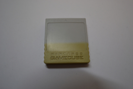 Original GameCube Memory Card 59 Blocks Discolored