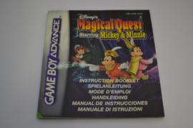 Disney's Magical Quest Starring Mickey & Minnie (GBA NEU6 MANUAL)
